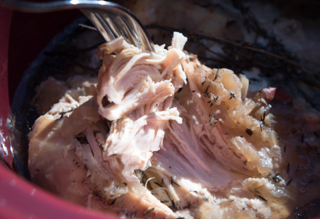 fork in crockpot