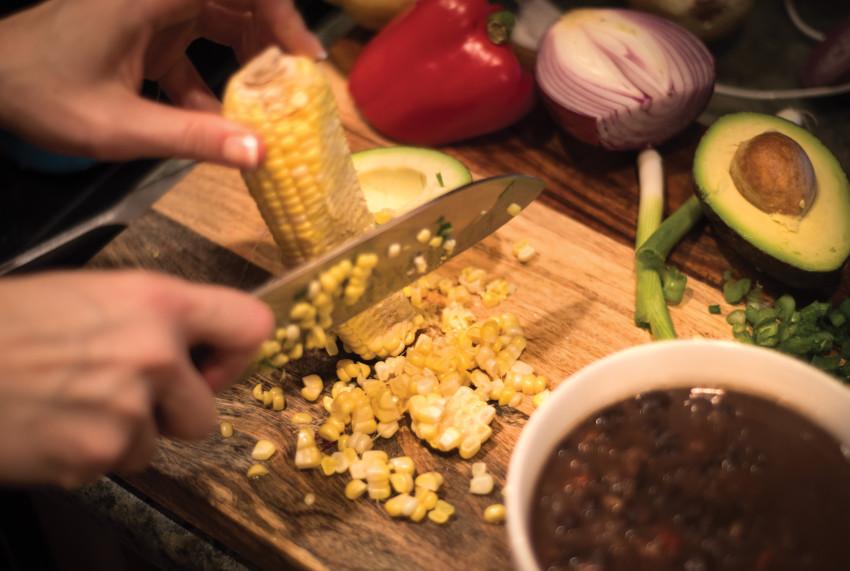 Black Bean Soup Cut Corn