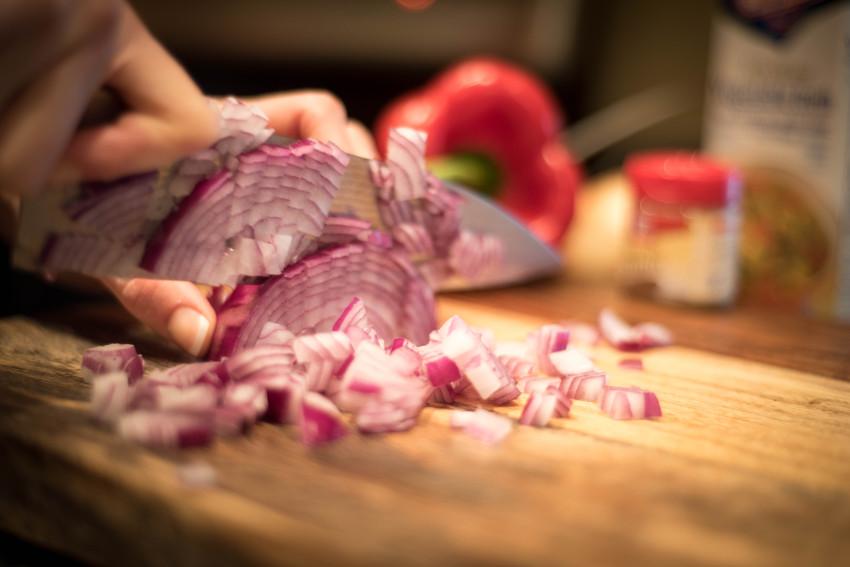 Black Bean Soup Onion Chop
