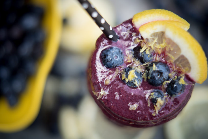 Frosted Blueberry Lemonade Smoothie 3