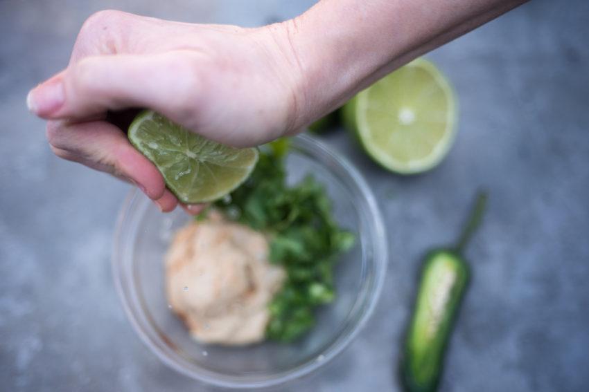 Lime Cilantro Hummus Sauce 2