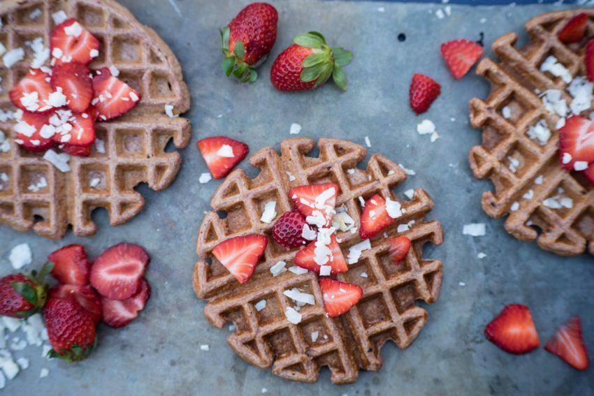 Strawberry Coconut Waffle 1