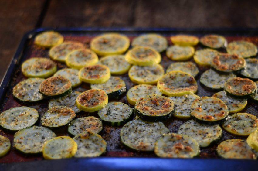 Zucchini & Yellow Squash Parmesan Chips 1