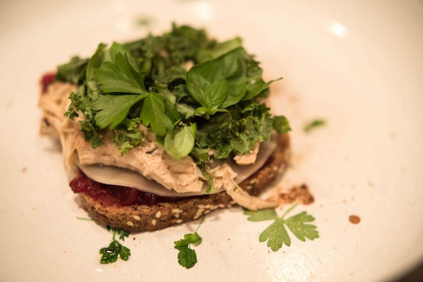 herbs-on-sandwich